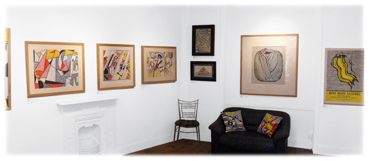 view of the back room at the A&D Gallery Chiltern Street London W1 West One